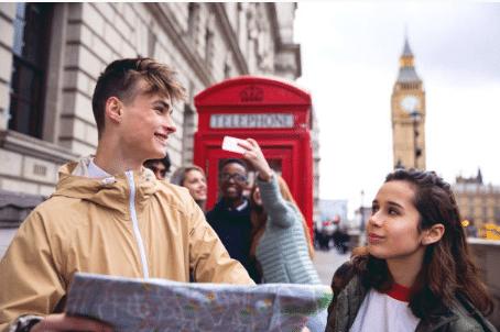 deux ados à Londres