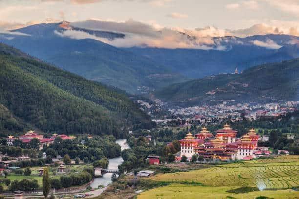 Ville de Thimpu, capitale du Bhoutan