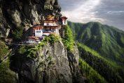 Temple de la ville de Paro, dans le royaume de Bhoutan